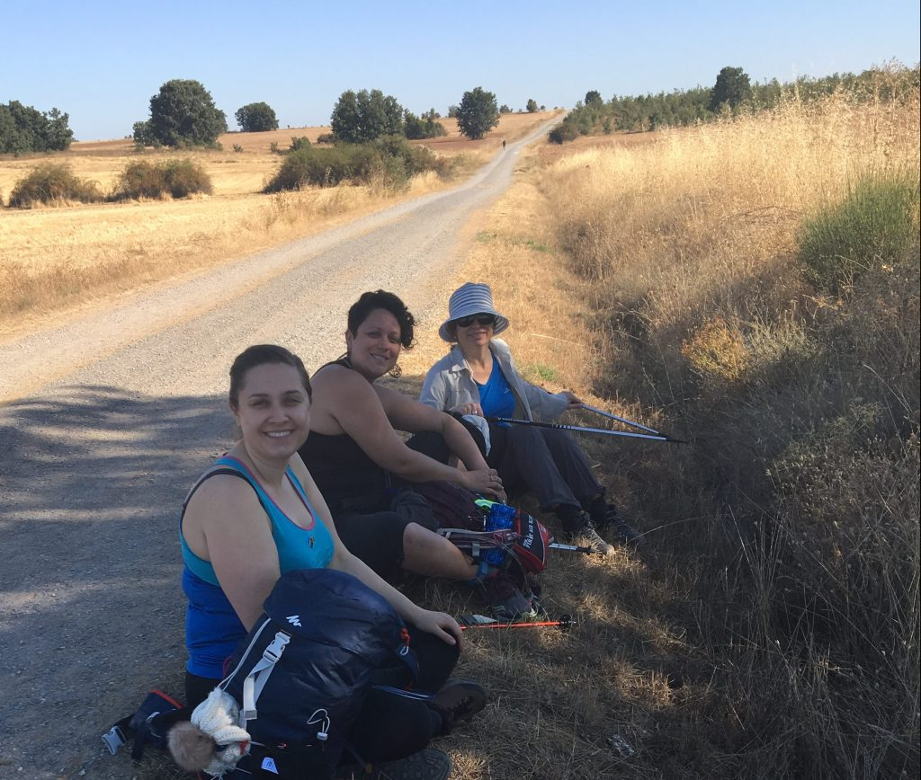 Group rest on Camino
