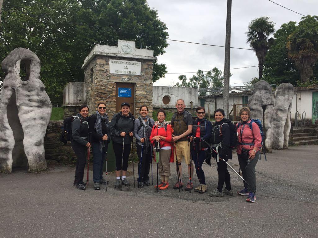 Group meet fellow Pilgrims